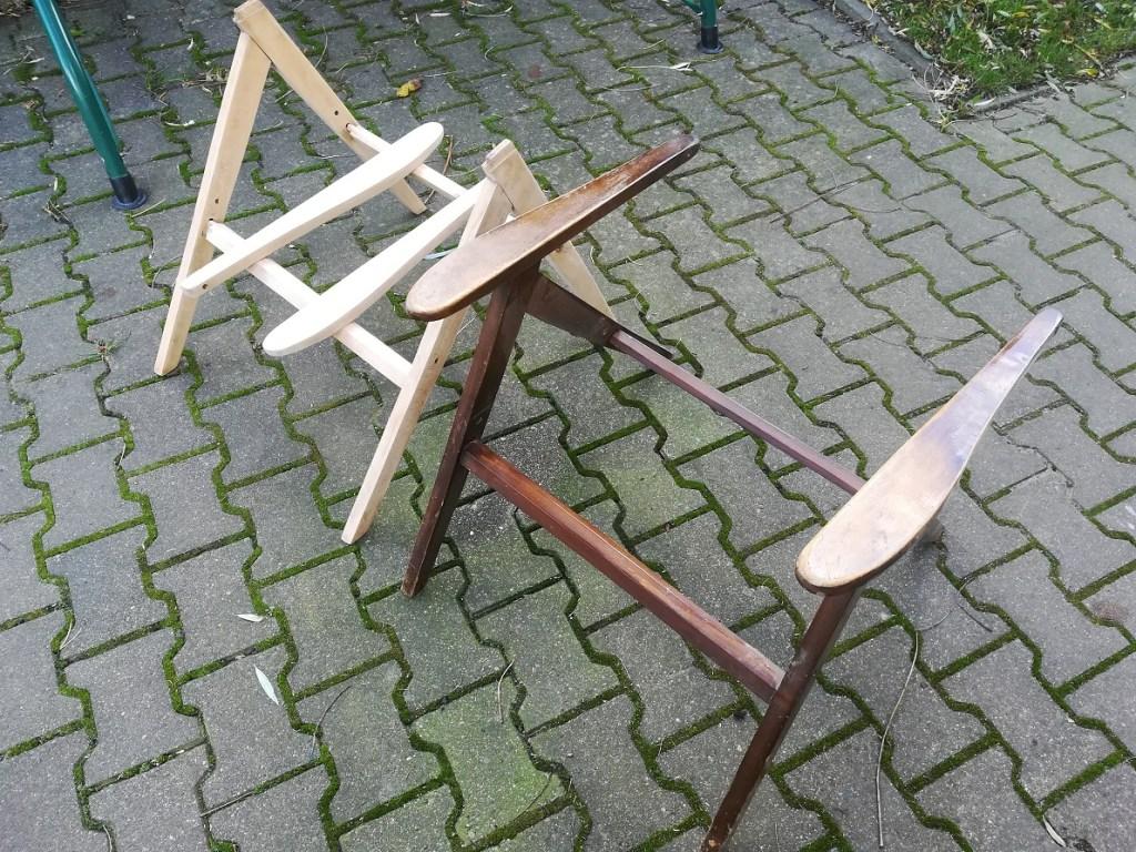 Szlifowanie drewna - renowacja foteli