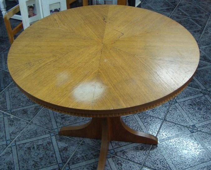 Okrągły stolik kawowy drewniany do renowacji