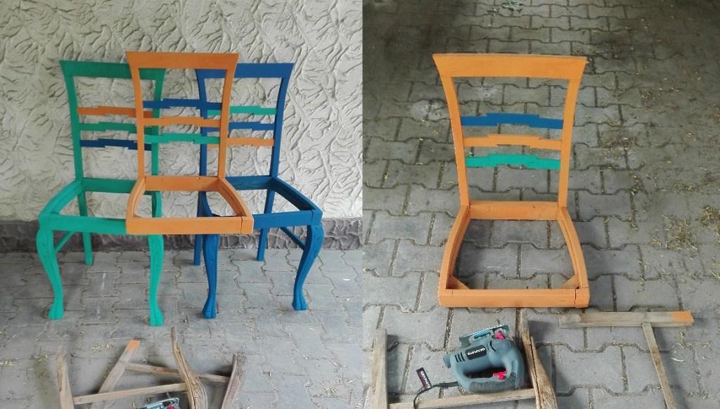 Jak wykorzystać stare krzesła i zrobić  z nich ławkę?