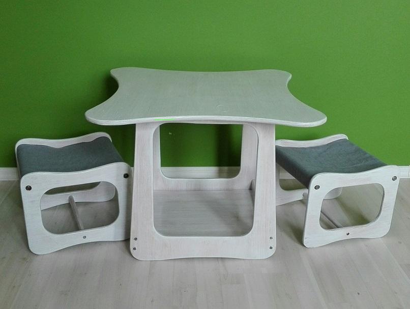 Stolik i dwa krzesła dziecięce biały