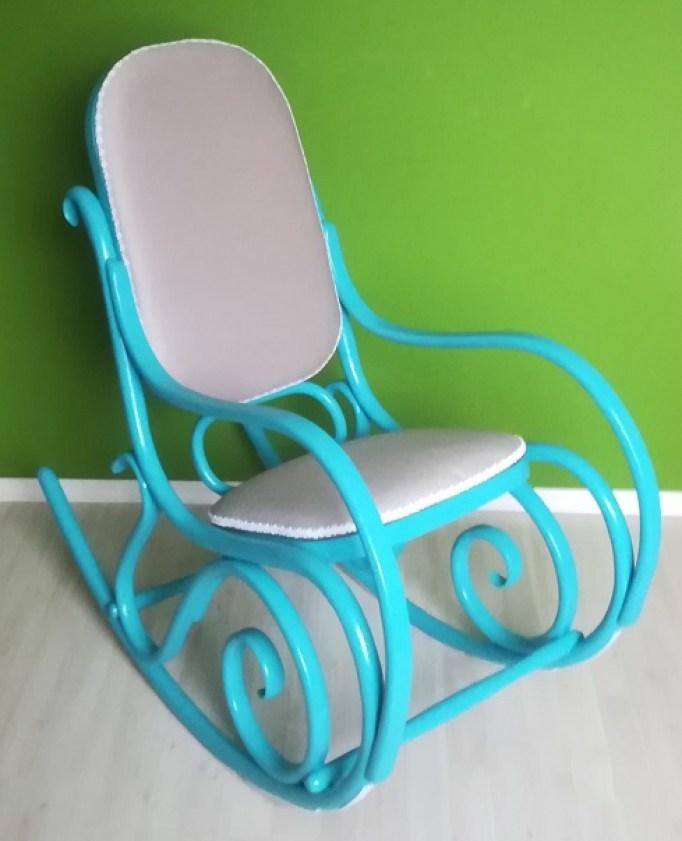 Turkusowy fotel