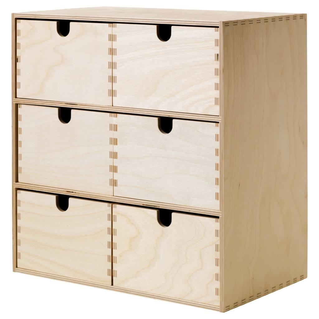 Drewniane szufladki MOPPE z IKEA