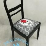 Krzesło z motywem kota tapicerka