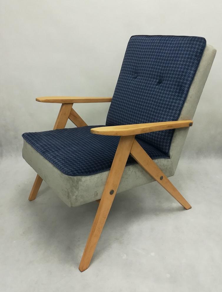 Fotel prl z pepitką