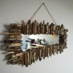 rama lustra z patyków hand made