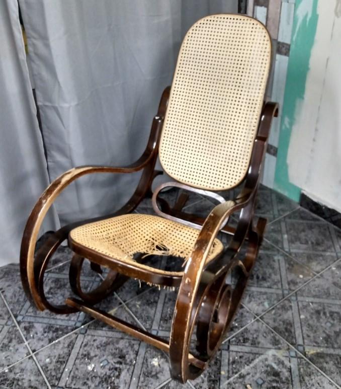Renowacja fotela bujanego