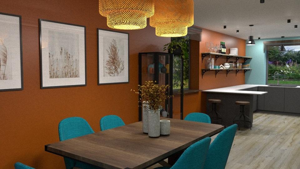 Salon w stylu eklektycznym modern loft