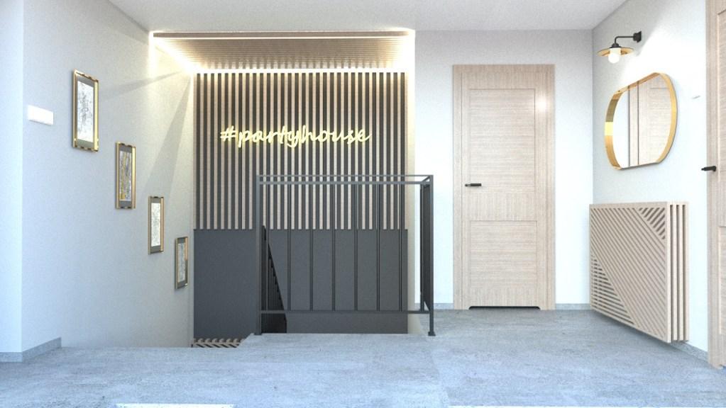 Projekt klatki schodowej w stylu modern loft