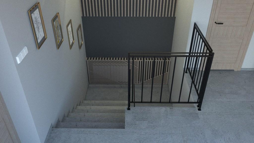 Klatka schodowa w stylu modern loft