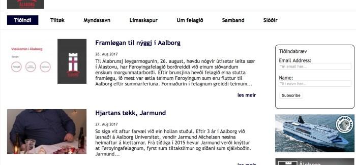 Gamlaárskvøld fer okkara gamla heimasíða í søguna