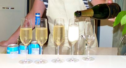 We always begin with some bubbly