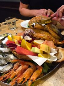 Mixed seafood platter - first night in Dee Why - Balmain Bug?!?