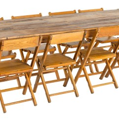 Table Chair Rentals 2 Wooden Folding Directors Wood Harvest A La Crate Hand Built Made In Wisconsin Reclaimed Barn