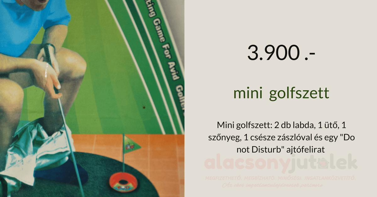 Mini golfszett -Toilet golf- 3900Ft-akció
