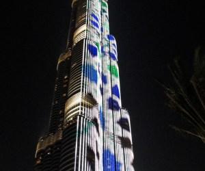 A világ legmagasabb épülete Dubai fény és hangjáték