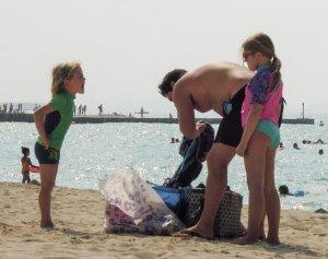 Dubai gyerek strand program vita