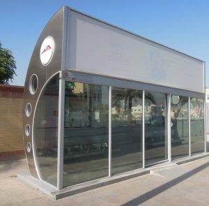 Dubai légkondicionált buszmegálló