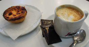 portugál sütemény nata kávé
