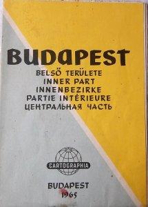 Budapest Belső Területe térkép 1965