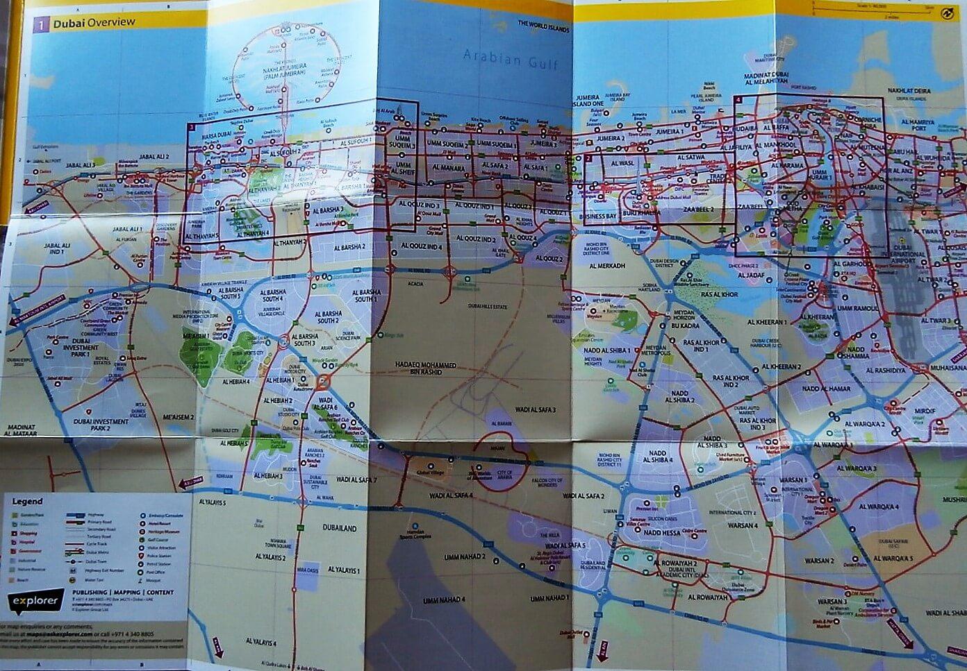 Dubai térkép eladó