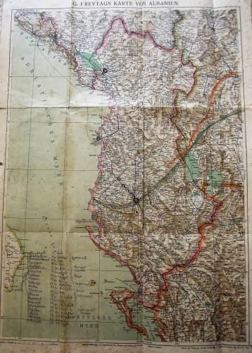 Albánia régi térkép 1928