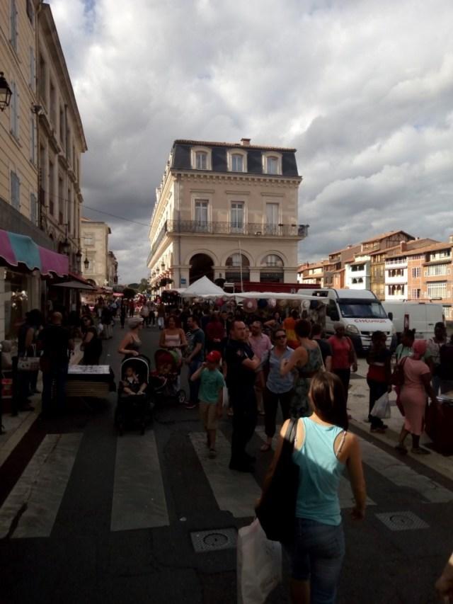 Hoy día de mercado en Castres