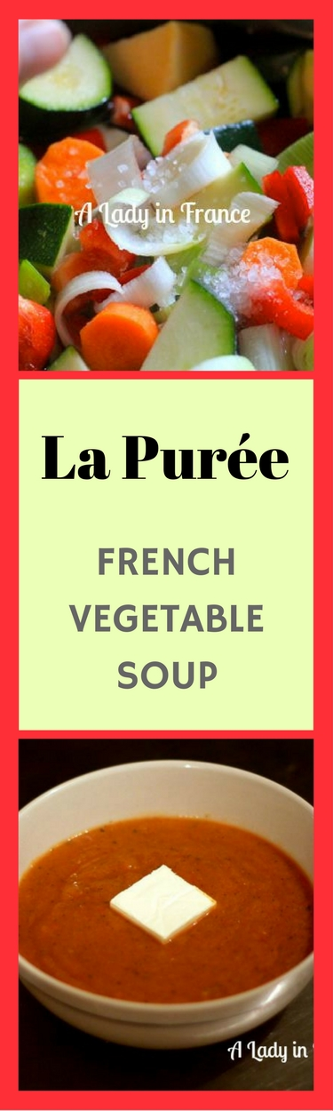 Quick and easy vegetable soup purée. Great way to get vitamins in the winter. This is a French classic.