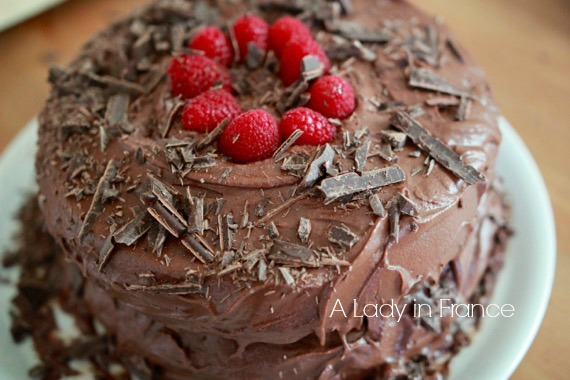 Cool Vegan Gluten Free Chocolate Raspberry Cake A Lady In France Funny Birthday Cards Online Hendilapandamsfinfo