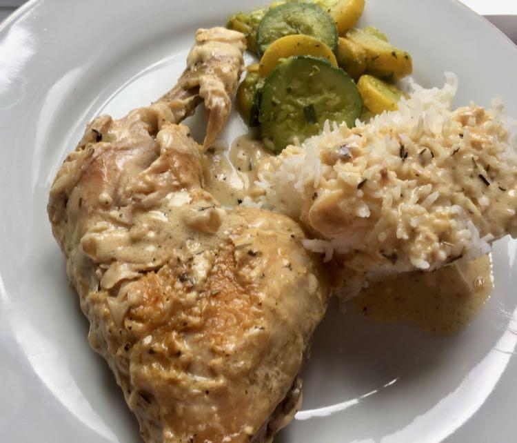 Creamy Dijon Roast Chicken Legs