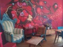 L'intérieur décoré également par les Street-Artistes Supakitch et AlëxOne