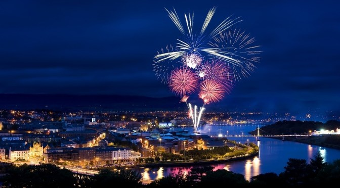 ALadyofLeisure.com 48 hours in Derry Halloween fireworks cover2