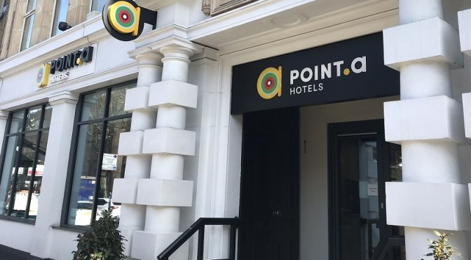 Disco lights, friendly staff and great location at Point A hotel, Kings Cross, London