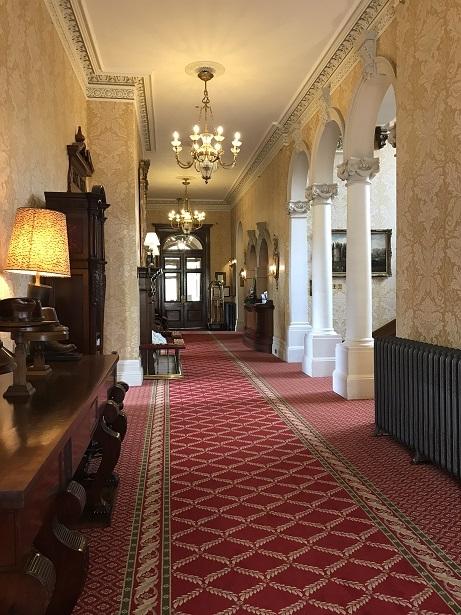 downstairs corridor