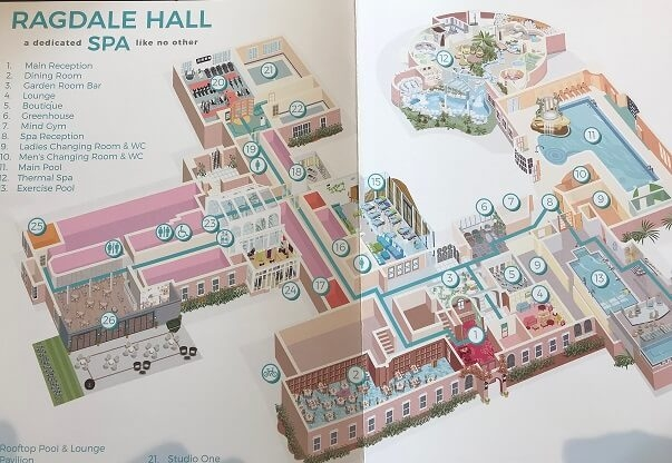 map of Ragdale Hall