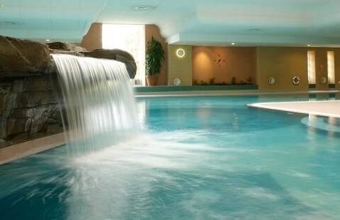 The main swimming pool at Ragdale Hall