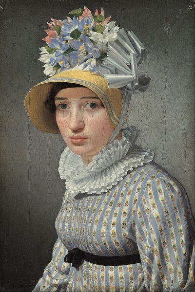 Christoffer Wilhelm Eckersberg, Portrait of Bertel Thorvaldsen's Italian mistress, Anna Maria Magnani, c. 1815
