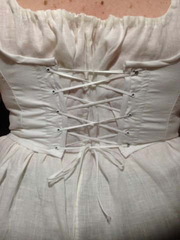 Waist-length stays - back lacing