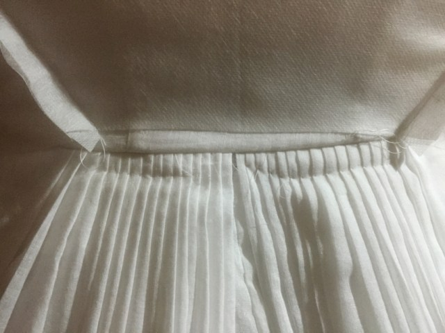Detail of back pleats