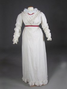 Polka-dot dress 1810-1815