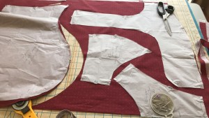Pattern pieces laid out