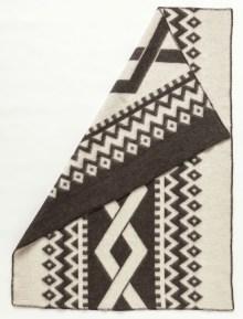 Álafoss Wool Blanket - Flétta Dark 0401
