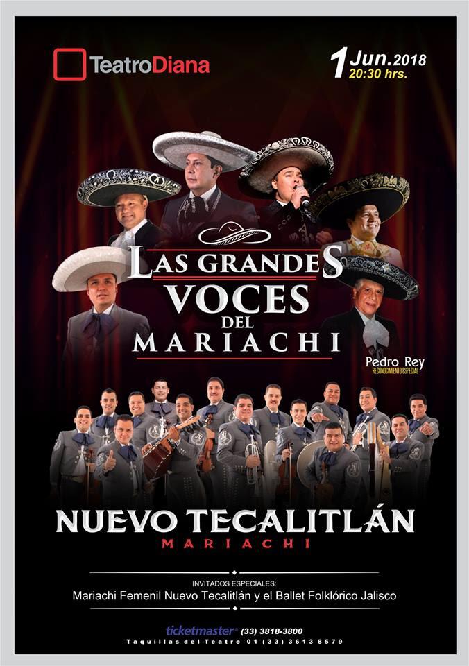 #DateAlaFuga #Cortesías / Las Grandes Voces del Mariachi / Teatro Diana