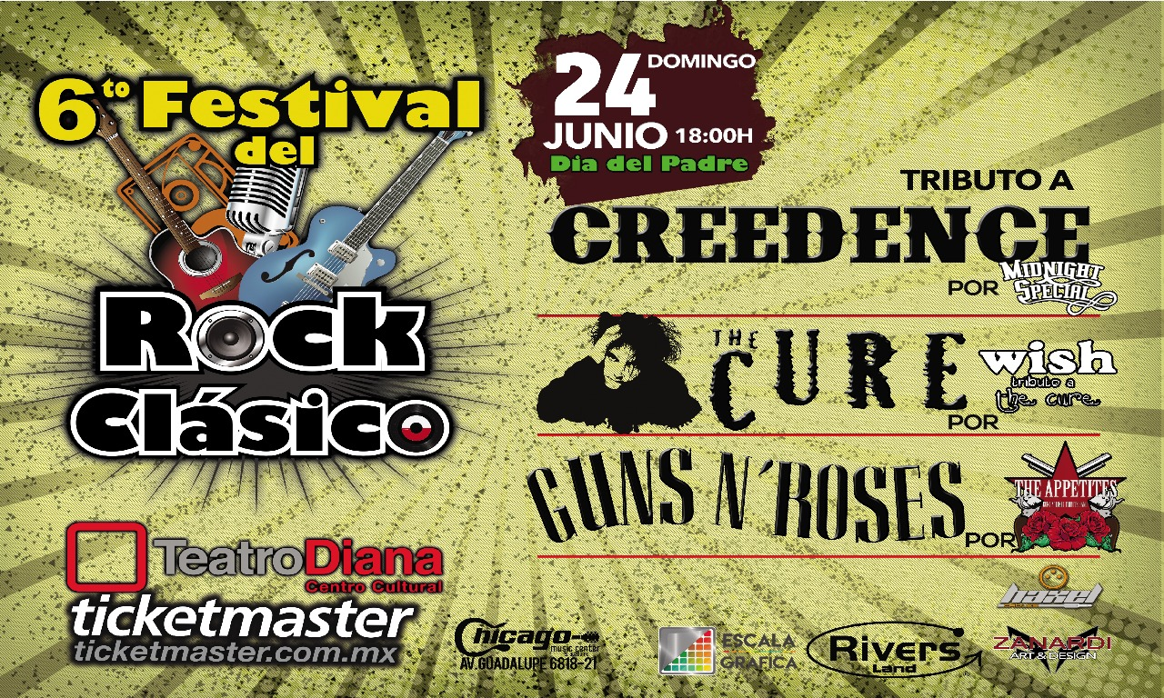 6to Festival del Rock Clásico Tributo a Creedence, The Cure y Guns n´ Roses / Teatro Diana