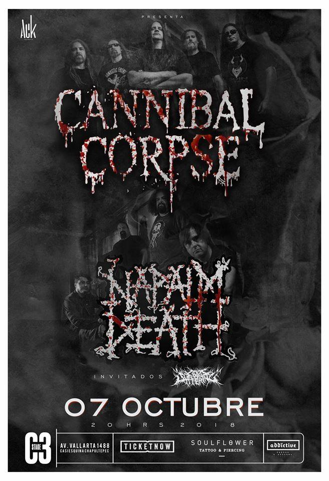 Cannibal Corpse + Napalm Death / C3 Stage