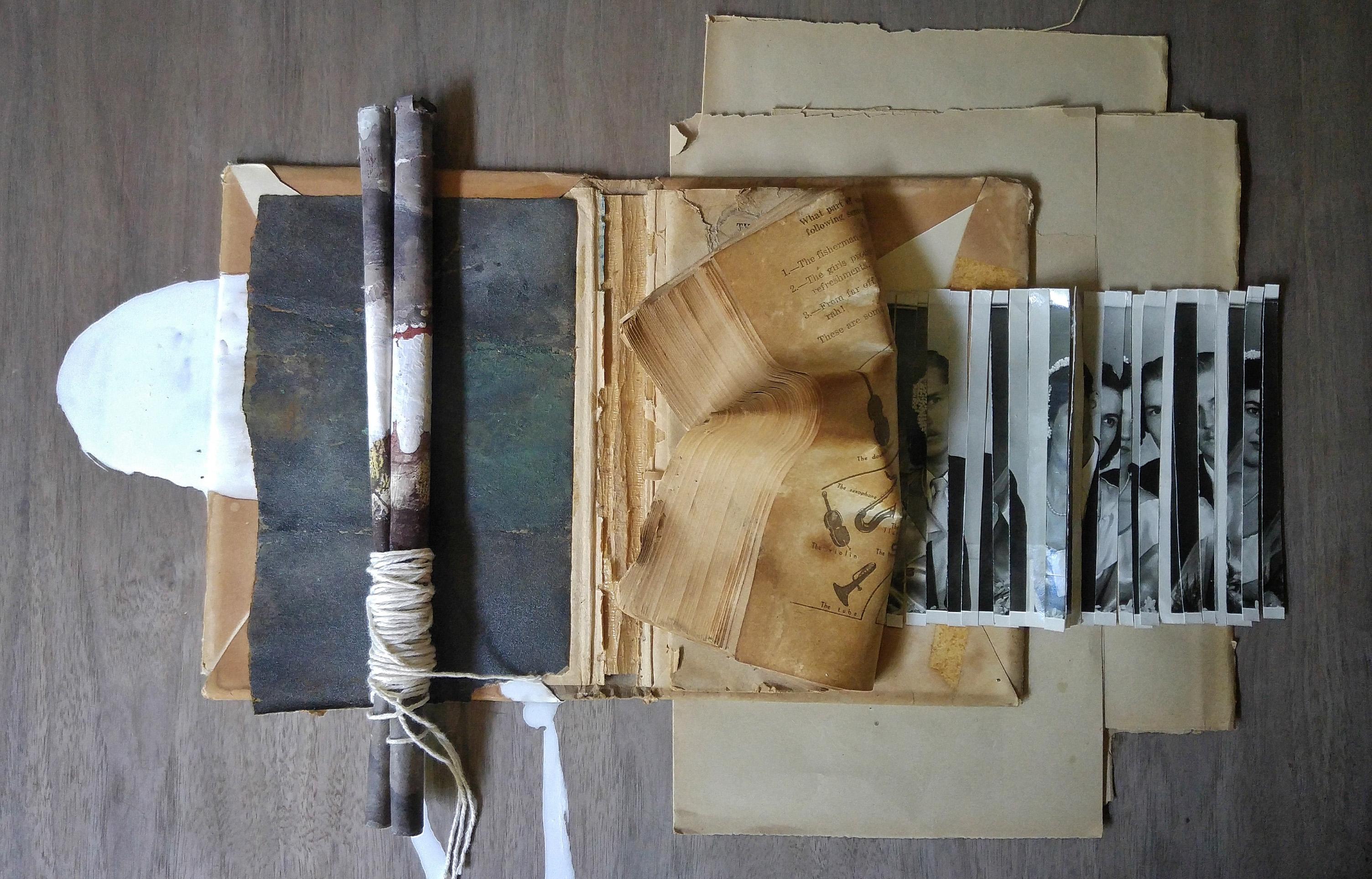 Piezas abandonadas en cajones cobran vida en la exposición Contendor sagrado / Ex Convento del Carmen