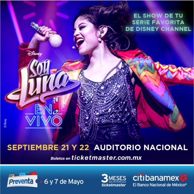Soy Luna en vivo se presentará en 2018 en el Auditorio Nacional