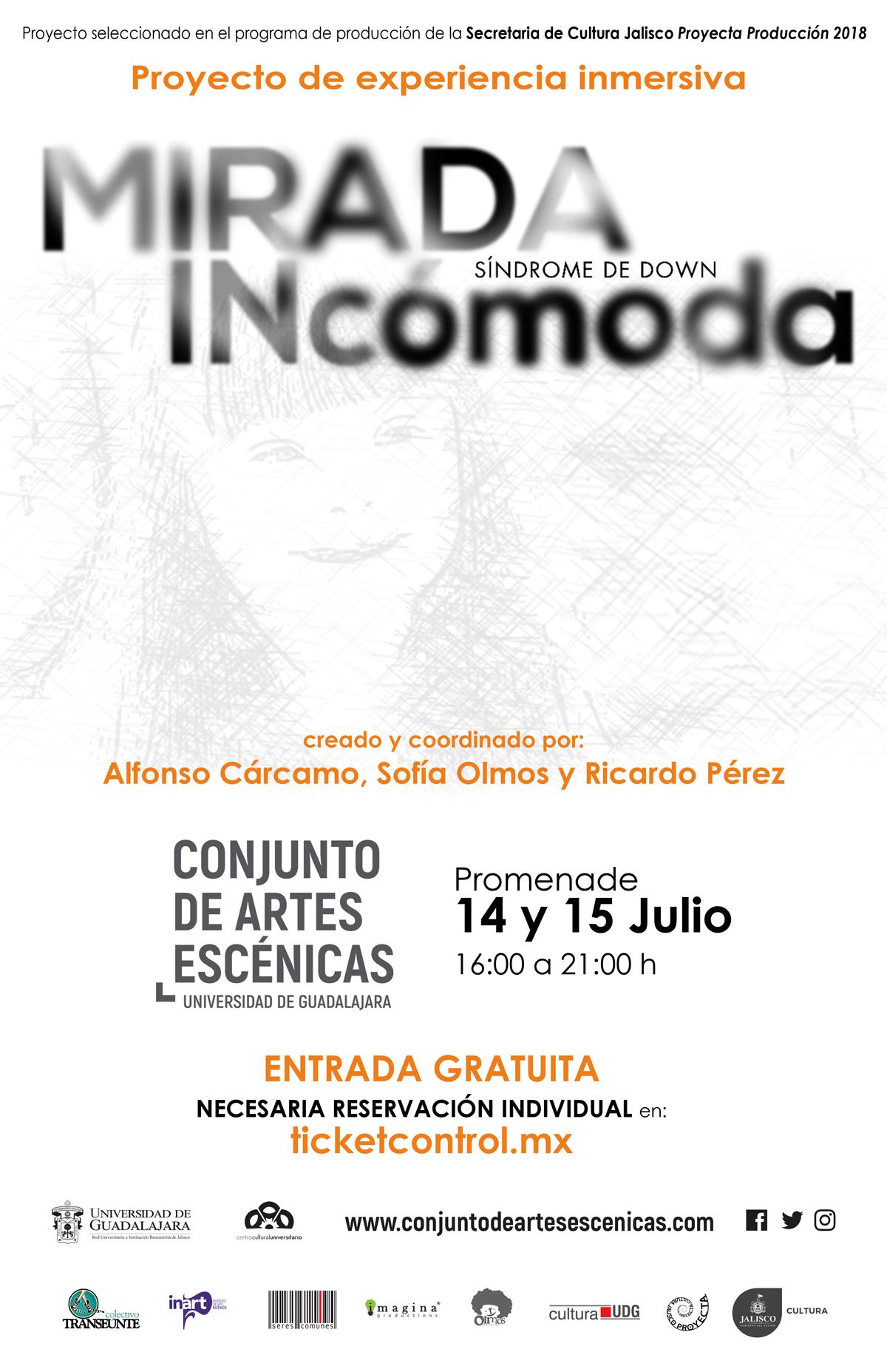 Mirada INcómoda (experiencia inmersiva) / Conjunto de Artes Escéncias