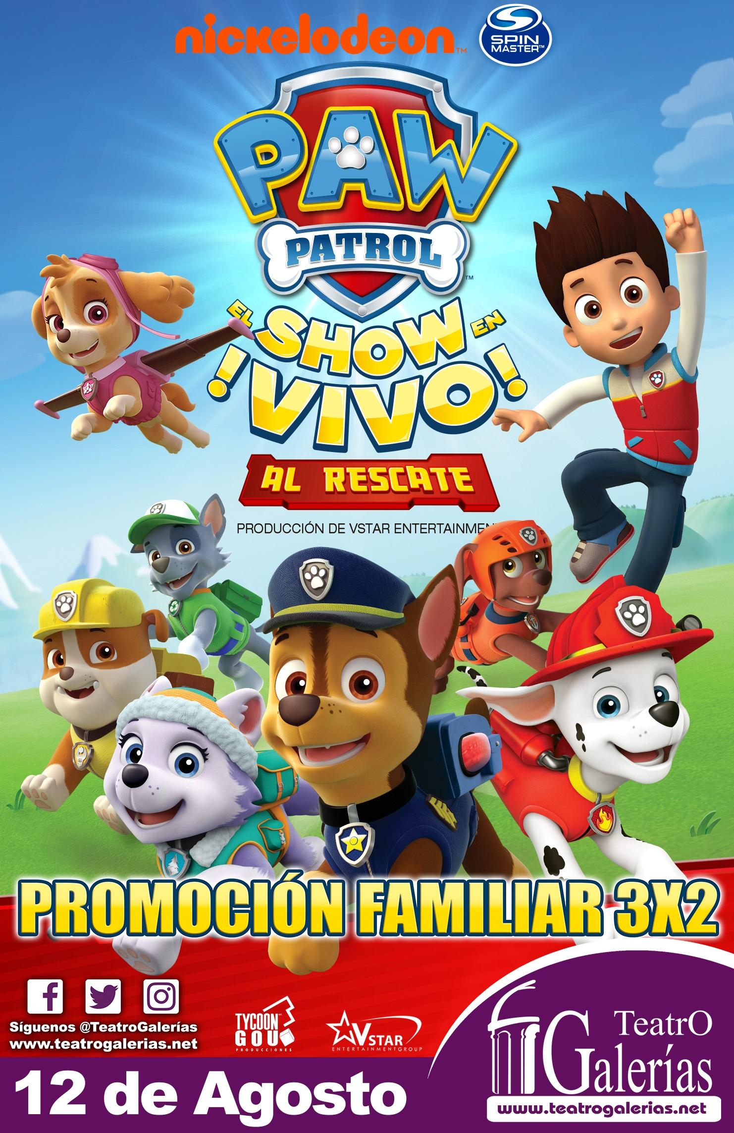 Paw Patrol / Teatro Galerías