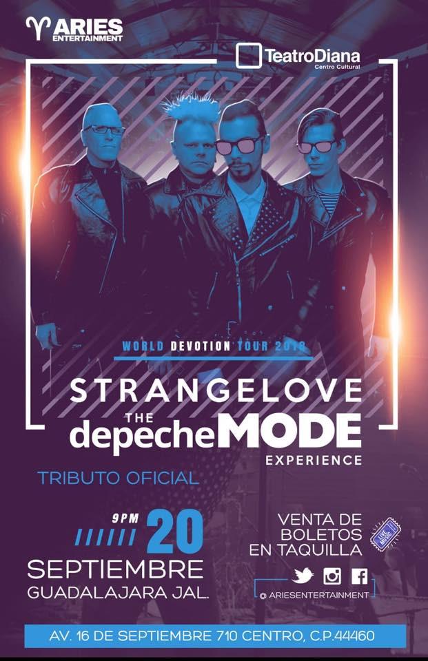 #DateAlaFuga #Cortesías / Strangelove tributo a Depeche Mode / Teatro Diana