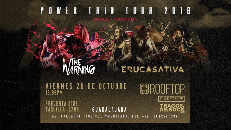 Power Trío Tour 2018 / C3 Rooftop
